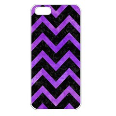 Chevron9 Black Marble & Purple Watercolor (r) Apple Iphone 5 Seamless Case (white) by trendistuff