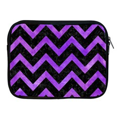 Chevron9 Black Marble & Purple Watercolor (r) Apple Ipad 2/3/4 Zipper Cases