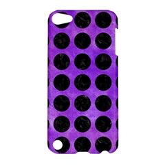 Circles1 Black Marble & Purple Watercolor Apple Ipod Touch 5 Hardshell Case by trendistuff