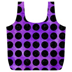 Circles1 Black Marble & Purple Watercolor Full Print Recycle Bags (l)  by trendistuff