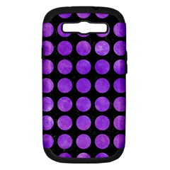 Circles1 Black Marble & Purple Watercolor (r) Samsung Galaxy S Iii Hardshell Case (pc+silicone) by trendistuff