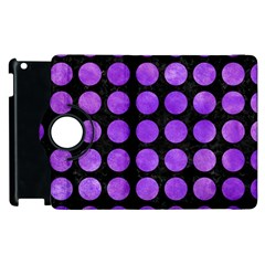 Circles1 Black Marble & Purple Watercolor (r) Apple Ipad 2 Flip 360 Case by trendistuff