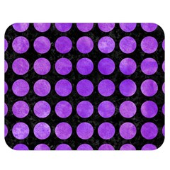 Circles1 Black Marble & Purple Watercolor (r) Double Sided Flano Blanket (medium)