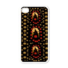Pumkin Witch In Candles And White Magic Apple Iphone 4 Case (white) by pepitasart
