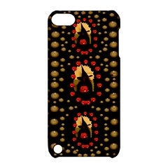 Pumkin Witch In Candles And White Magic Apple Ipod Touch 5 Hardshell Case With Stand by pepitasart