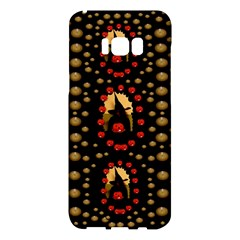 Pumkin Witch In Candles And White Magic Samsung Galaxy S8 Plus Hardshell Case  by pepitasart