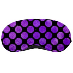 Circles2 Black Marble & Purple Watercolor (r) Sleeping Masks by trendistuff