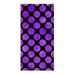 Circles2 Black Marble & Purple Watercolor (r) Shower Curtain 36  X 72  (stall)  by trendistuff
