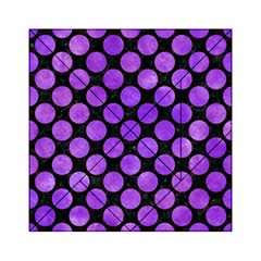 Circles2 Black Marble & Purple Watercolor (r) Acrylic Tangram Puzzle (6  X 6 ) by trendistuff