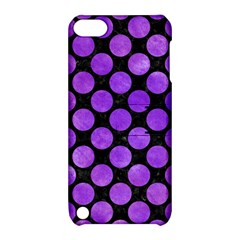 Circles2 Black Marble & Purple Watercolor (r) Apple Ipod Touch 5 Hardshell Case With Stand by trendistuff