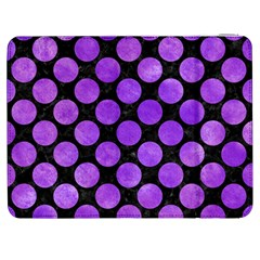 Circles2 Black Marble & Purple Watercolor (r) Samsung Galaxy Tab 7  P1000 Flip Case by trendistuff