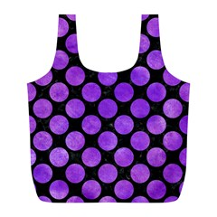 Circles2 Black Marble & Purple Watercolor (r) Full Print Recycle Bags (l)  by trendistuff