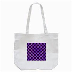 Circles2 Black Marble & Purple Watercolor (r) Tote Bag (white) by trendistuff