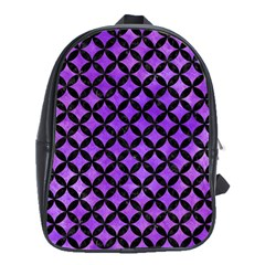 Circles3 Black Marble & Purple Watercolor School Bag (xl) by trendistuff