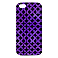 Circles3 Black Marble & Purple Watercolor (r) Iphone 5s/ Se Premium Hardshell Case by trendistuff