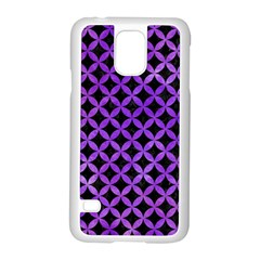 Circles3 Black Marble & Purple Watercolor (r) Samsung Galaxy S5 Case (white) by trendistuff