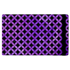 Circles3 Black Marble & Purple Watercolor (r) Apple Ipad Pro 9 7   Flip Case by trendistuff