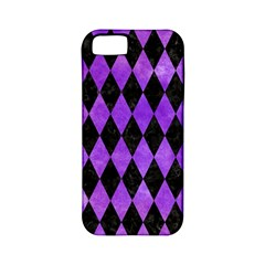 Diamond1 Black Marble & Purple Watercolor Apple Iphone 5 Classic Hardshell Case (pc+silicone) by trendistuff