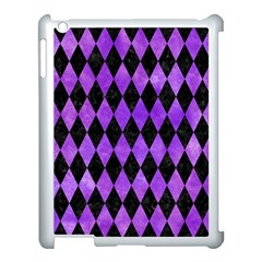 Diamond1 Black Marble & Purple Watercolor Apple Ipad 3/4 Case (white) by trendistuff