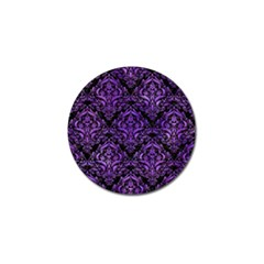 Damask1 Black Marble & Purple Watercolor (r) Golf Ball Marker by trendistuff