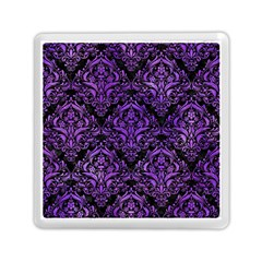Damask1 Black Marble & Purple Watercolor (r) Memory Card Reader (square)  by trendistuff