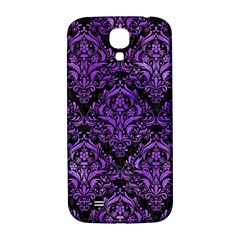 Damask1 Black Marble & Purple Watercolor (r) Samsung Galaxy S4 I9500/i9505  Hardshell Back Case by trendistuff