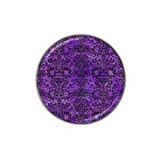 Damask2 Black Marble & Purple Watercolor Hat Clip Ball Marker (10 Pack) by trendistuff