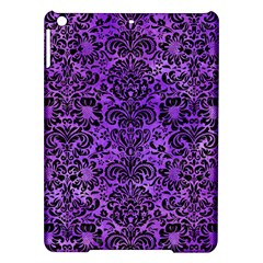 Damask2 Black Marble & Purple Watercolor Ipad Air Hardshell Cases by trendistuff