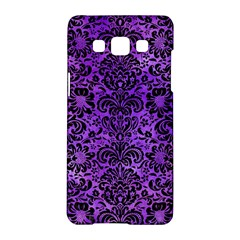 Damask2 Black Marble & Purple Watercolor Samsung Galaxy A5 Hardshell Case  by trendistuff