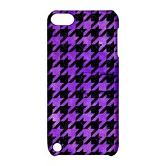 Houndstooth1 Black Marble & Purple Watercolor Apple Ipod Touch 5 Hardshell Case With Stand by trendistuff