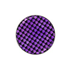 Houndstooth2 Black Marble & Purple Watercolor Hat Clip Ball Marker (10 Pack) by trendistuff