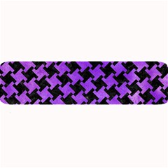 Houndstooth2 Black Marble & Purple Watercolor Large Bar Mats by trendistuff