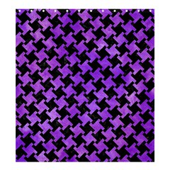 Houndstooth2 Black Marble & Purple Watercolor Shower Curtain 66  X 72  (large)  by trendistuff