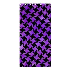 Houndstooth2 Black Marble & Purple Watercolor Shower Curtain 36  X 72  (stall)  by trendistuff