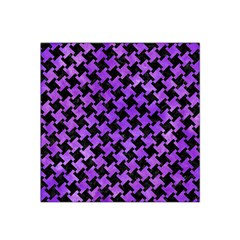 Houndstooth2 Black Marble & Purple Watercolor Satin Bandana Scarf by trendistuff