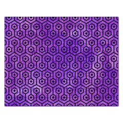 Hexagon1 Black Marble & Purple Watercolor Rectangular Jigsaw Puzzl by trendistuff
