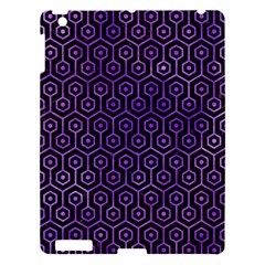Hexagon1 Black Marble & Purple Watercolor (r) Apple Ipad 3/4 Hardshell Case by trendistuff