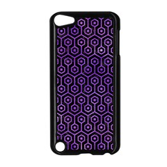 Hexagon1 Black Marble & Purple Watercolor (r) Apple Ipod Touch 5 Case (black) by trendistuff