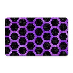 Hexagon2 Black Marble & Purple Watercolor (r) Magnet (rectangular) by trendistuff