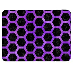 Hexagon2 Black Marble & Purple Watercolor (r) Samsung Galaxy Tab 7  P1000 Flip Case by trendistuff