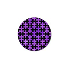 Puzzle1 Black Marble & Purple Watercolor Golf Ball Marker by trendistuff