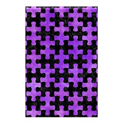 Puzzle1 Black Marble & Purple Watercolor Shower Curtain 48  X 72  (small)  by trendistuff
