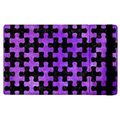 Puzzle1 Black Marble & Purple Watercolor Apple Ipad 2 Flip Case by trendistuff