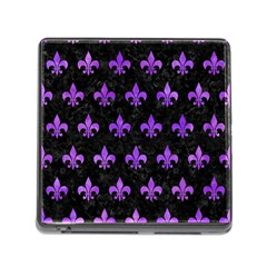 Royal1 Black Marble & Purple Watercolor Memory Card Reader (square) by trendistuff