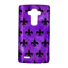 Royal1 Black Marble & Purple Watercolor (r) Lg G4 Hardshell Case by trendistuff