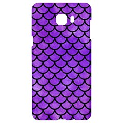 Scales1 Black Marble & Purple Watercolor Samsung C9 Pro Hardshell Case