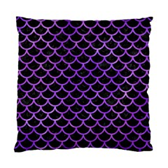 Scales1 Black Marble & Purple Watercolor (r) Standard Cushion Case (two Sides) by trendistuff