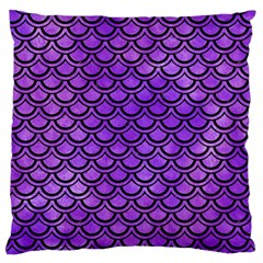 Scales2 Black Marble & Purple Watercolor Large Cushion Case (one Side) by trendistuff