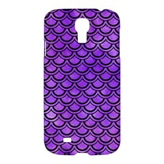 Scales2 Black Marble & Purple Watercolor Samsung Galaxy S4 I9500/i9505 Hardshell Case by trendistuff