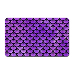 Scales3 Black Marble & Purple Watercolor Magnet (rectangular) by trendistuff